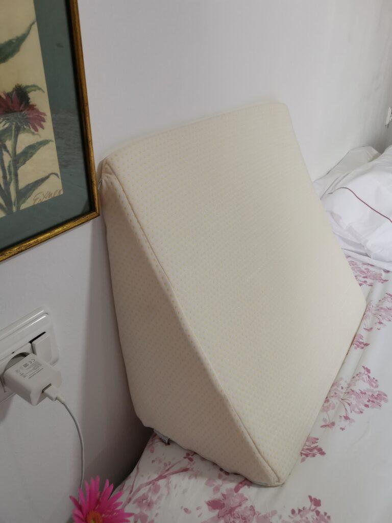 Cojín lectura en forma de cuña funda lavable